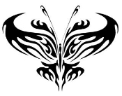 Tribal Butterfly v2 Decal Sticker