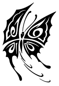 Tribal Butterfly v8 Decal Sticker