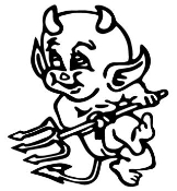 Devil Baby Decal Sticker