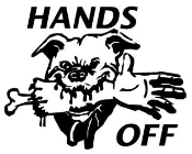 Hands Off Decal Sticker