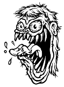 Monster Head Ratfink v1 Decal Sticker