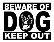 Beware Of Dog Decal Sticker