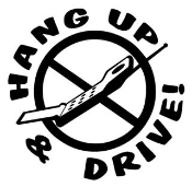 Hang Up and Drive v2 Decal Sticker