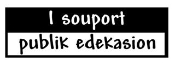 I Souport Publik Edekasion Decal Sticker
