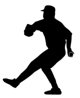 Baseball Pitcher Silhouette Decal Sticker