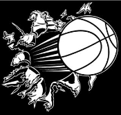 Basketball Busting Wall Decal Sticker