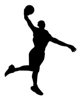 Basketball Player Silhouette v1 Decal Sticker