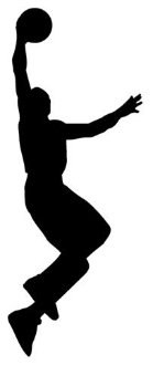 Basketball Player Silhouette v2 Decal Sticker