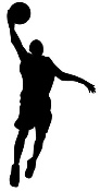 BBall Layup Silhouette v1 Decal Sticker