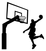 Player Dunking on Hoop v2 Decal Sticker
