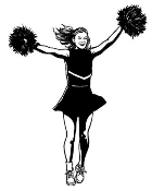 Cheerleader 5 Decal Sticker