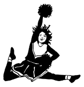 Cheerleader Jump 2 Decal Sticker