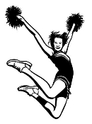 Cheerleader Jump 3 Decal Sticker