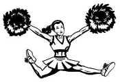 Cheerleader Jump 4 Decal Sticker