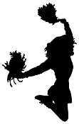 Cheerleader Silhouette Decal Sticker