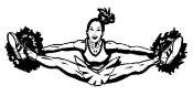 Cheerleader Splits 2 Decal Sticker