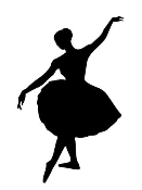 Ballet Dancer Silhouette Decal Sticker