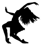 Dancer Silhouette v1 Decal Sticker