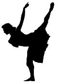 Dancer Silhouette v5 Decal Sticker