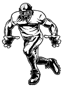 Football Linebacker v2 Decal Sticker