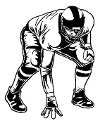 Football Lineman v2 Decal Sticker