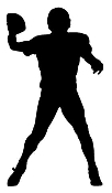 Quarterback Silhouette Decal Sticker