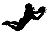 Football Receiver Diving Catch Silhouette Decal Sticker