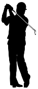 Golfer Silhouette v2 Decal Sticker