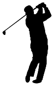 Golfer Silhouette v4 Decal Sticker