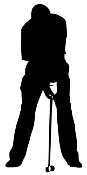 Golfer Silhouette v6 Decal Sticker
