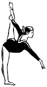 Gymnast Female 1 Decal Sticker