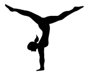Gymnast Female Silhouette Decal Sticker