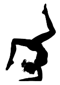 Gymnast Silhouette 2 Decal Sticker
