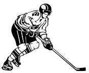 Hockey Player v2 Decal Sticker