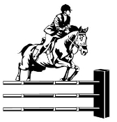 Horse Jumping v2 Decal Sticker