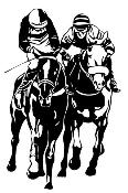 Horse Racing v4 Decal Sticker