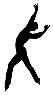 Ice Skater Silhouette Decal Sticker
