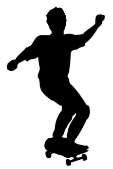 Skateboarder Silhouette v1 Decal Sticker