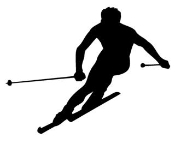 Skiing Silhouette v4 Decal Sticker