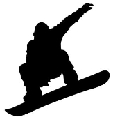 Snowboard Silhouette v2 Decal Sticker