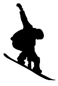 Snowboard Silhouette v3 Decal Sticker