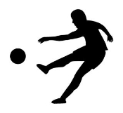 Soccer Player Silhouette 2 Decal Sticker