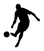 Soccer Player Silhouette 3 Decal Sticker