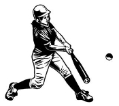 Softball Hitter 1 Decal Sticker