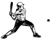 Softball Hitter 2 Decal Sticker