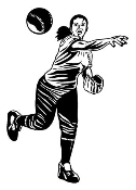 Softball Player 3 Decal Sticker