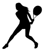 Tennis Girl Silhouette 1 Decal Sticker