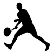 Tennis Player Silhouette 3 Decal Sticker