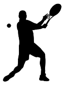 Tennis Player Silhouette 7 Decal Sticker