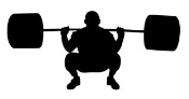 Powerlifter Silhouette 3 Decal Sticker